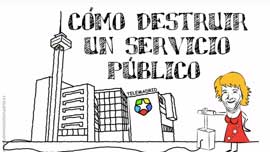 Video animación Telemadrid como destruir un servicio público