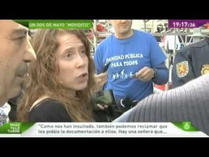 Sanitarios y trabajadores despedidos de Telemadrid protestan en el primer 2 de mayo de Ignacio Gonzlez como presidente